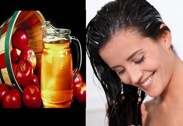 Chăm sóc tóc với rượu táo