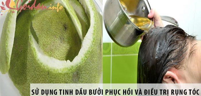 Bíquyếtcách sử dụng tinh dầu bưởi phục hồi và điều trị rụng tóc