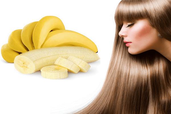Chăm sóc tóc khô xơ bằng chuối