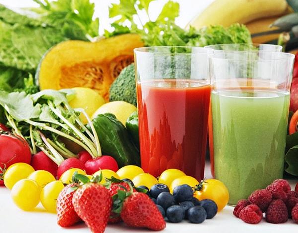 Bổ sung nhiều rau xanh và trái cây cho mái tóc thêm bóng khỏe