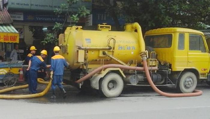 Dịch vụ hút bể phốt ở Hà Nội