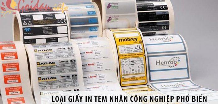 6 loại giấy in tem nhãn công nghiệp sử dụng phổ biến nhất